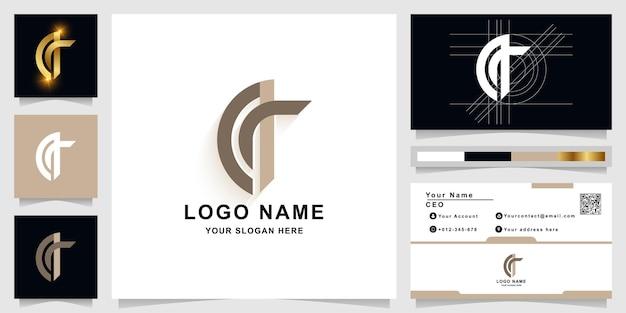 名刺デザインの文字aまたはqモノグラムロゴテンプレート