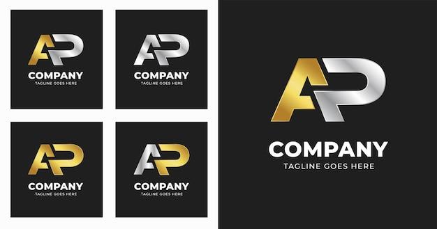 Письмо ap логотип дизайн шаблона