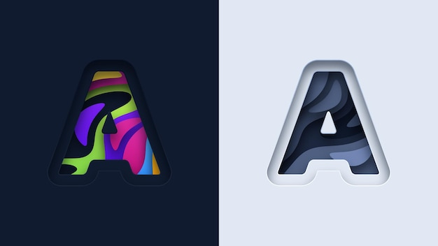 文字タイポグラフィのロゴデザイン