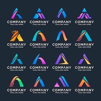 豪華でエレガントなシンプルなビジネスのためのスウッシュロゴデザインのインスピレーションアイコンと文字a