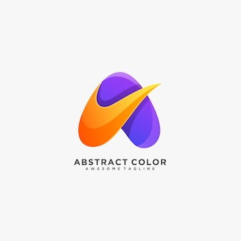 Letter a abstract colorful logo.