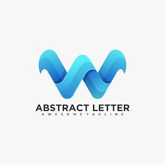 Letter abstract logo design color modern