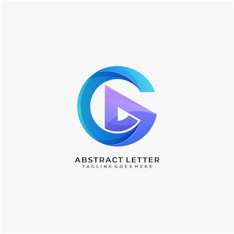 Letter abstract logo design colorful modern and digital