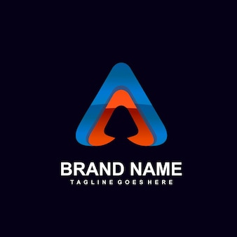 Letter a abstract logo design