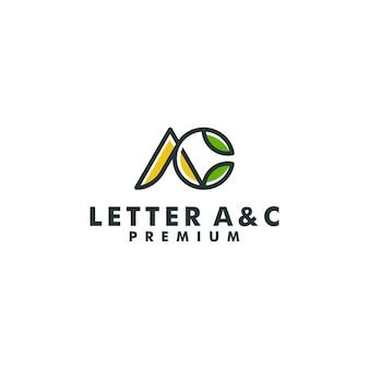 文字acロゴデザインモノグラムベクトル