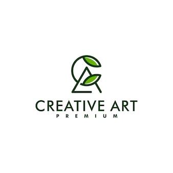 Буква ac дизайн логотипа вензель вектор