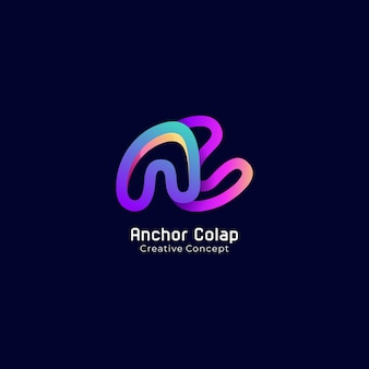 Letter ac logo gradient colorful modern