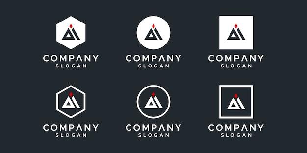 편지 ai 로고 디자인