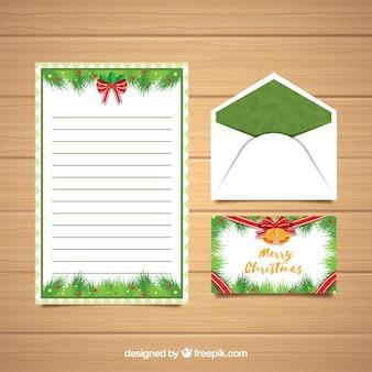 Шаблоны писем и конвертов для рождества