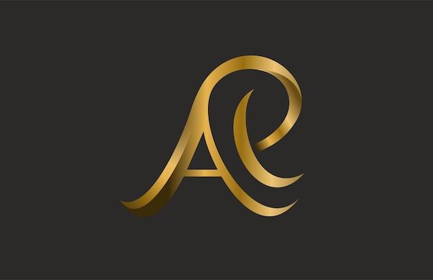 Буква ap или ae объединить логотип