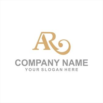 Letter ar logo