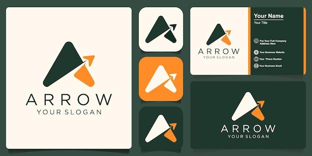 Letter a arrow logo design template inspiration