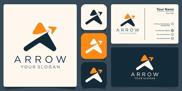 Letter a arrow logo icon design template elements.