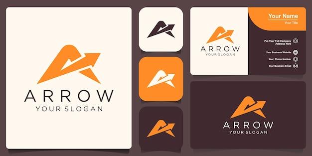 Letter a arrow logo template illustration design.