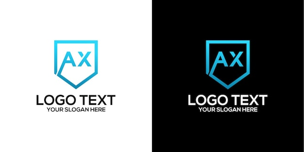 Буква топор логотип дизайн вектор премиум векторы