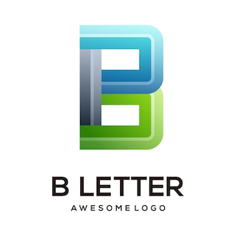 文字bカラフルなロゴデザインテンプレートモダン