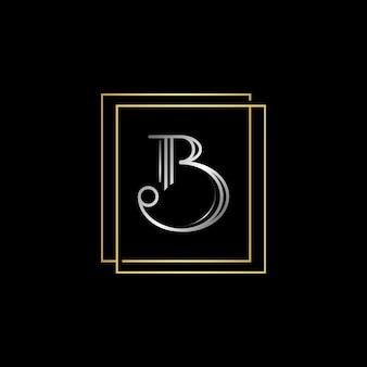 문자 b 초기 문자 모노그램 vectro 로고 템플릿