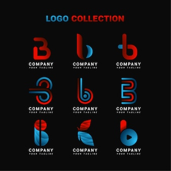 Letter b logo collection