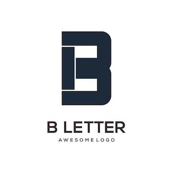 Letter b logo design template modern