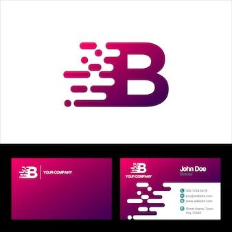 Буква b шаблон логотипа, дизайн векторной иллюстрации шаблона визитной карточки