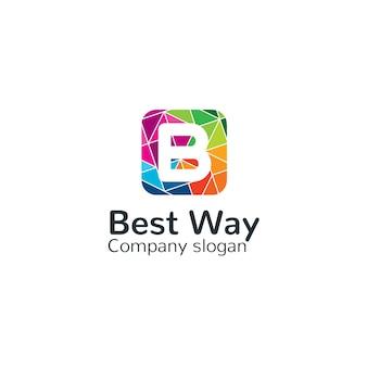 Шаблон логотипа буква b