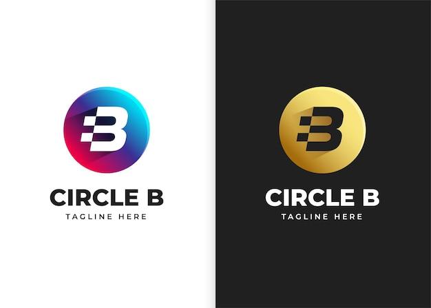 Буква b логотип векторные иллюстрации с дизайном в форме круга