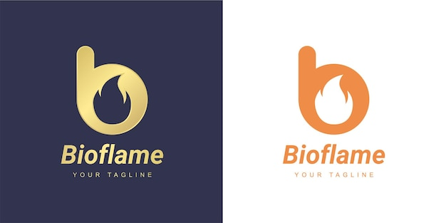 Letter b logo with a minimalist  fire  or  flame  concept