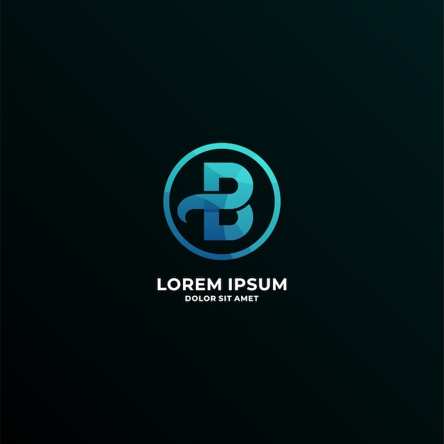 Letter b logotype