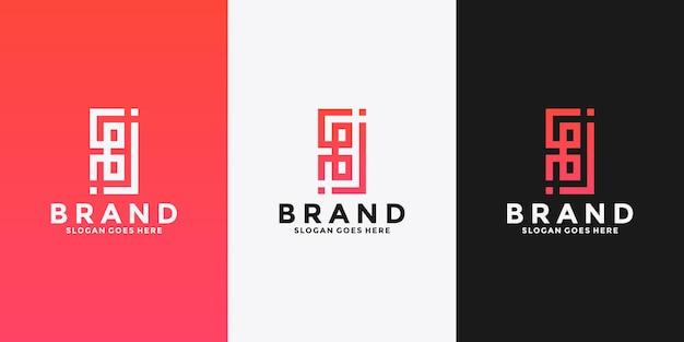귀하의 브랜드에 대한 문자 b 모노그램 로고 디자인