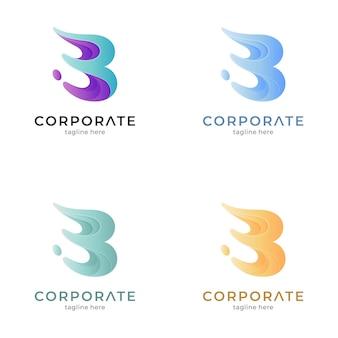 Letter b splash logo