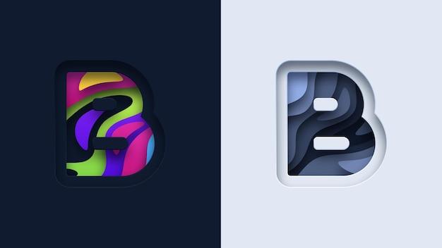 文字bのタイポグラフィのロゴデザイン