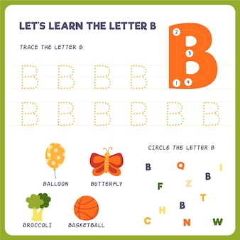 Letter b worksheet for kids