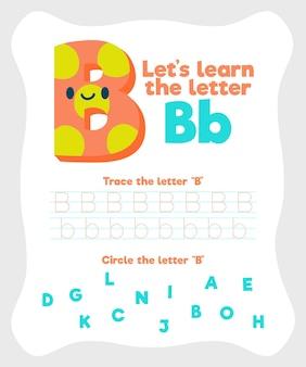 Modello di foglio di lavoro lettera b