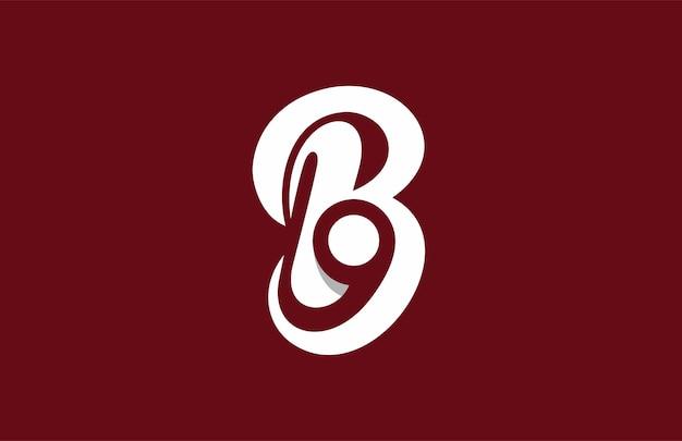 レターb9またはbgロゴ
