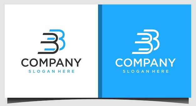 Letter bb logo design template