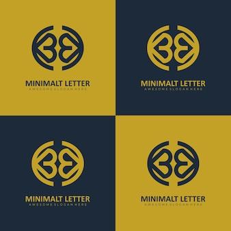 Letter bck 최소한의 우아한 모노그램 로고