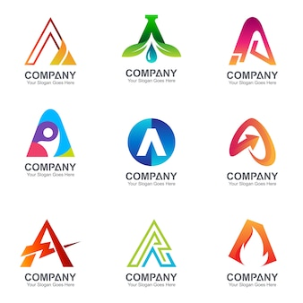Letter a business logo collection