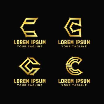 Letter c design logo template