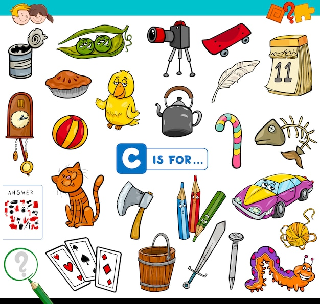 Letter c educational game