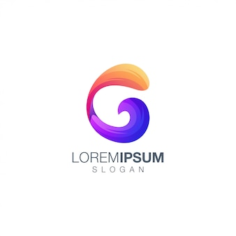 Letter c gradient color logo design