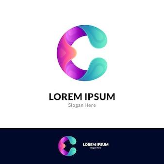 Letter c gradient logo template
