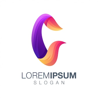 Letter c gradient logo