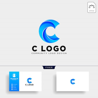 Letter c human logo template vector icon isolated