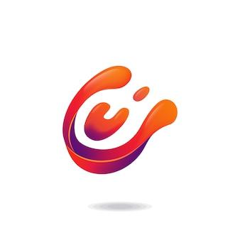Letter c liquid logo
