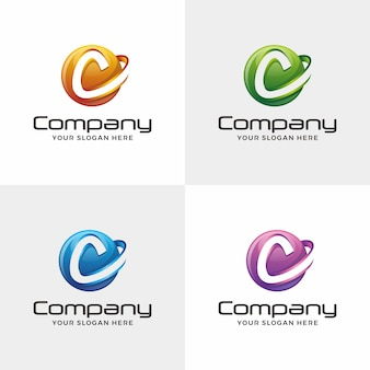 Letter c logo. circle logo design,