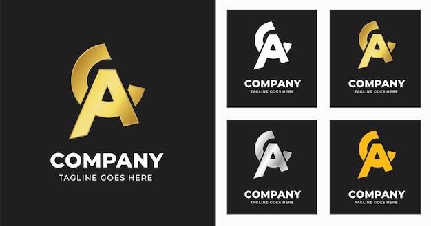 Letter a c logo design template