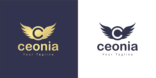 The letter c logo has a flying concept