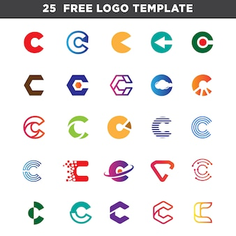 Letter c logo set