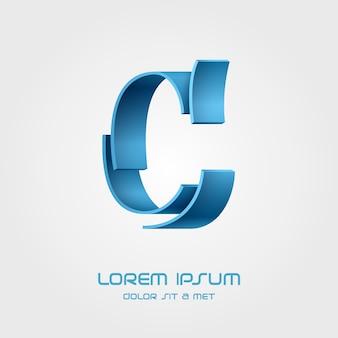Шаблон логотипа буква c