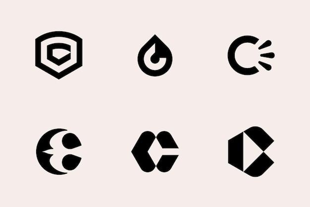 Letter c logo type set template